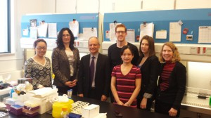 President Gertler visits the Radisic lab.1.04.14.b